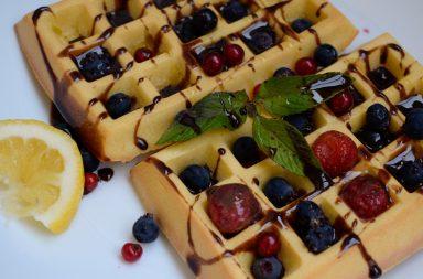 диетические бельгийские вафли