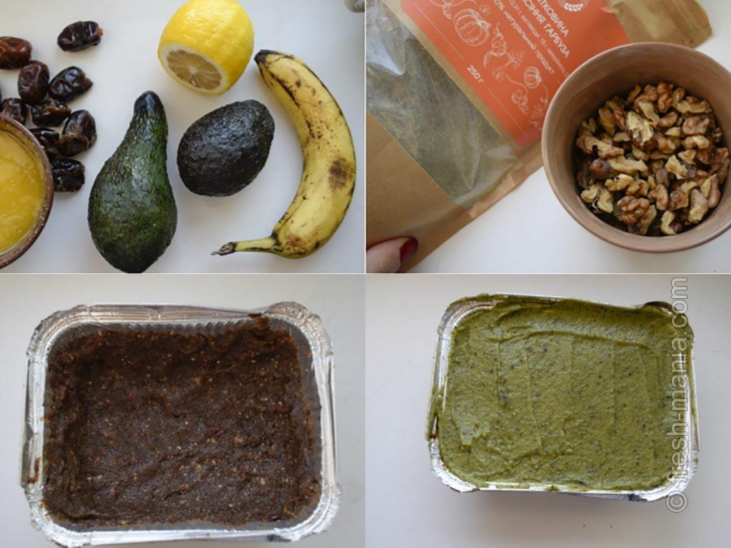 Приготовление сыроедческого тортика