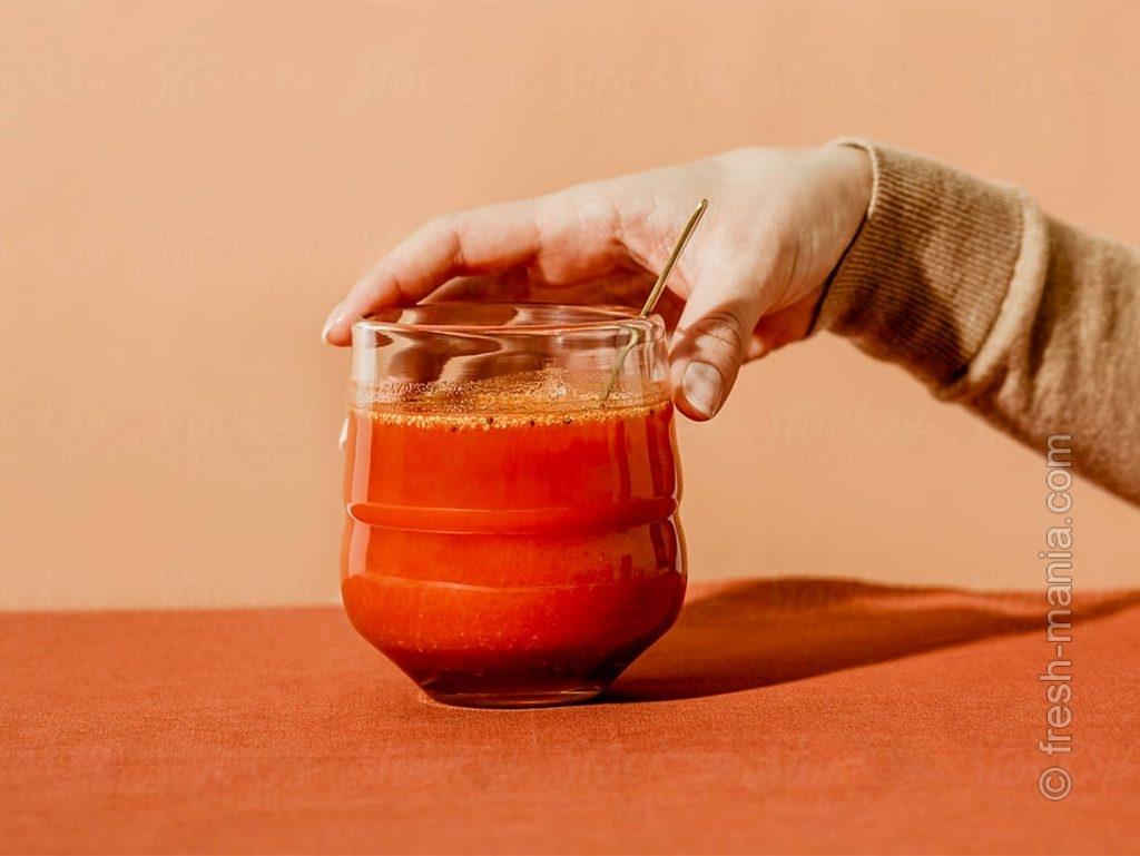 Яркое утро с морковно-имбирным фрешем