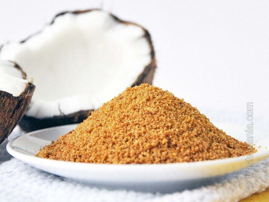Кокосовый сахар – это низкий гликемический индекс и полезные глютамин, инулин и инозитол