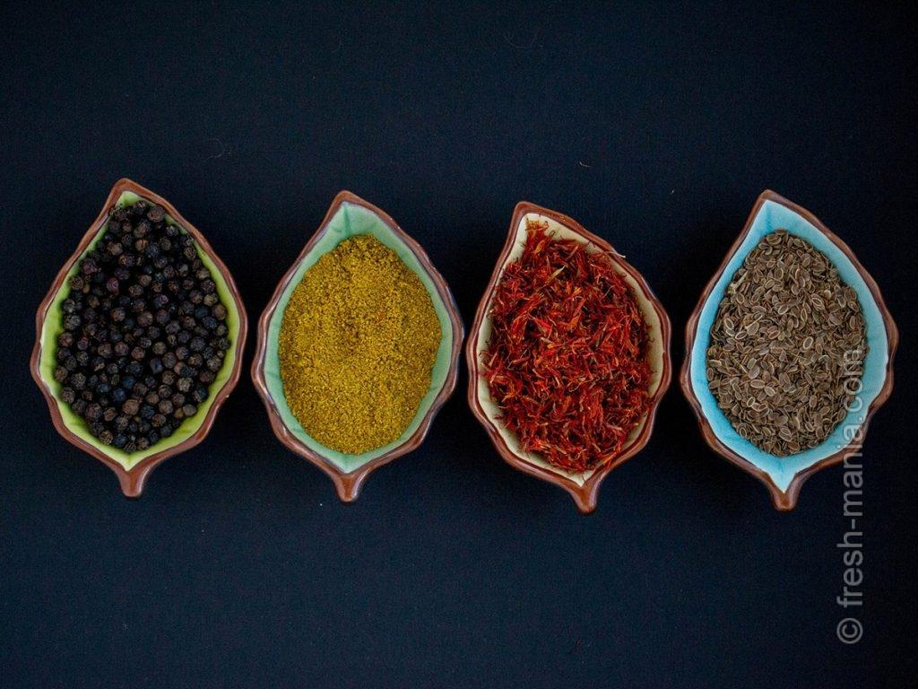 Цельные специи высвобождают эфирные масла при высоких температурах