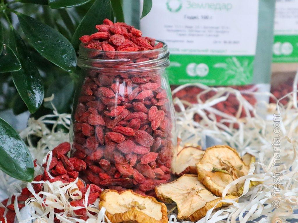 У ягод годжи богатый витаминами и антиоксидантами состав